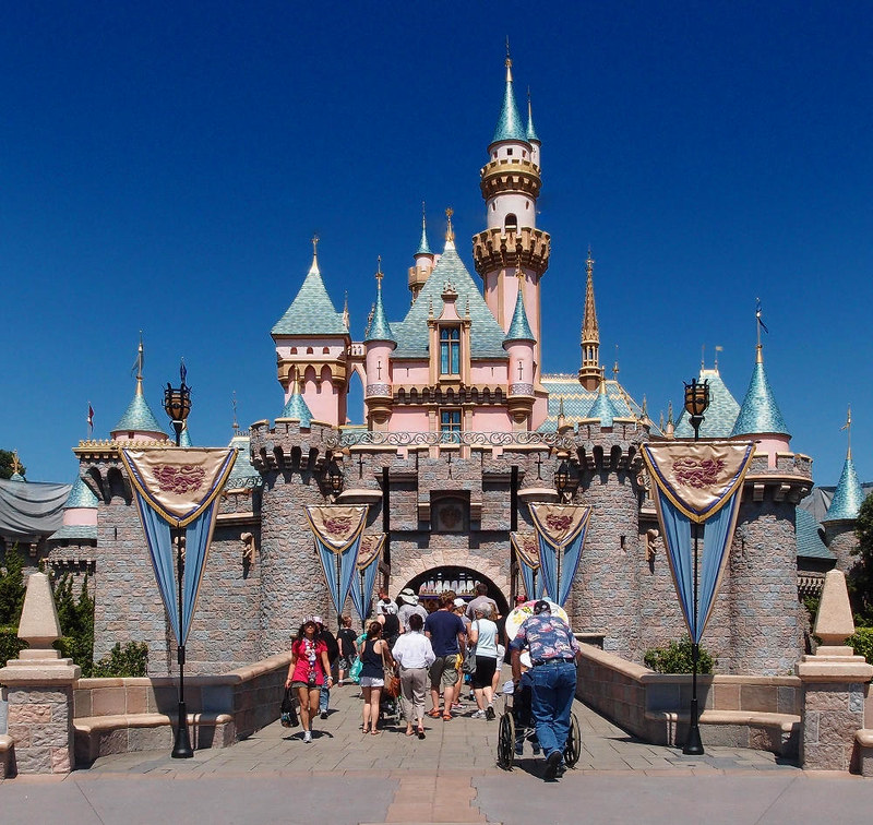 Sleeping Beauty Castle at Disneyland, Anaheim, CA. Credit Tuxyso