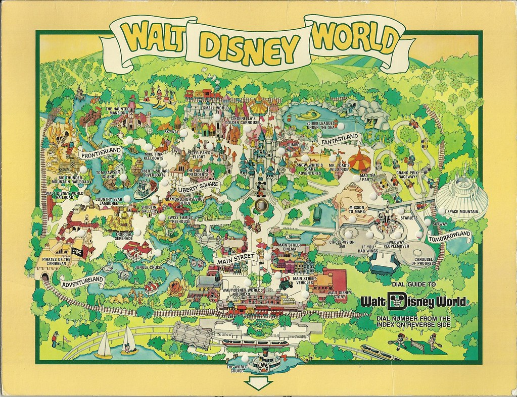 1980 Walt Disney World Dial Map In August 1983 We Visited Flickr