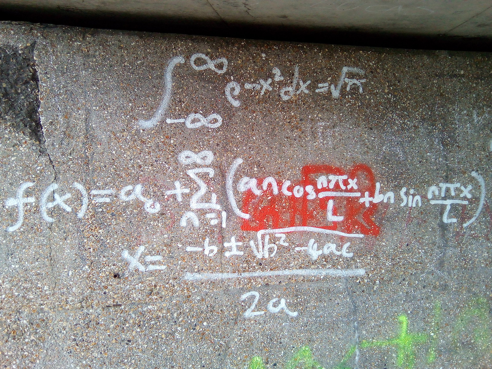 Maths Graffiti No e^-iπ = -1 though!