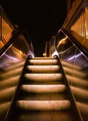 Shining escalator
