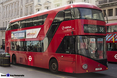 Wrightbus NRM NBFL - LTZ 1194 - LT194 - Piccadilly Circus 38 - Arriva - London 2017 - Steven Gray - IMG_6091