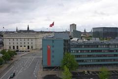 Rooftop views from abandoned post office in Copenhagen