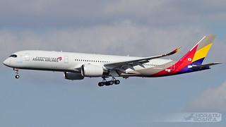 Airbus A350-941 XWB HL-7578 Asiana Airlines (F-WZNJ, MSN 144, Maiden Flight) | Toulouse Blagnac TLS/LFBO