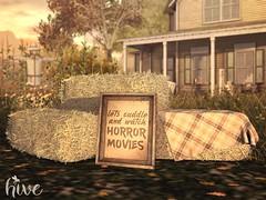 hive // hay bales + cuddle horror movie sign | FLF