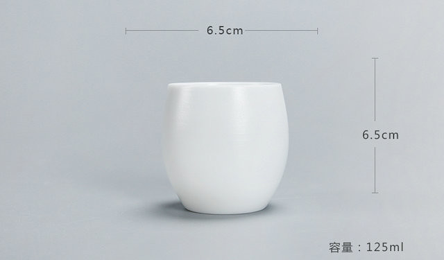 Free Shipping China DeHua White Porcelain Tea cups  Hand made  Ceramic hand pull embryo Chinese Kung Fu Tea accessories 125ml