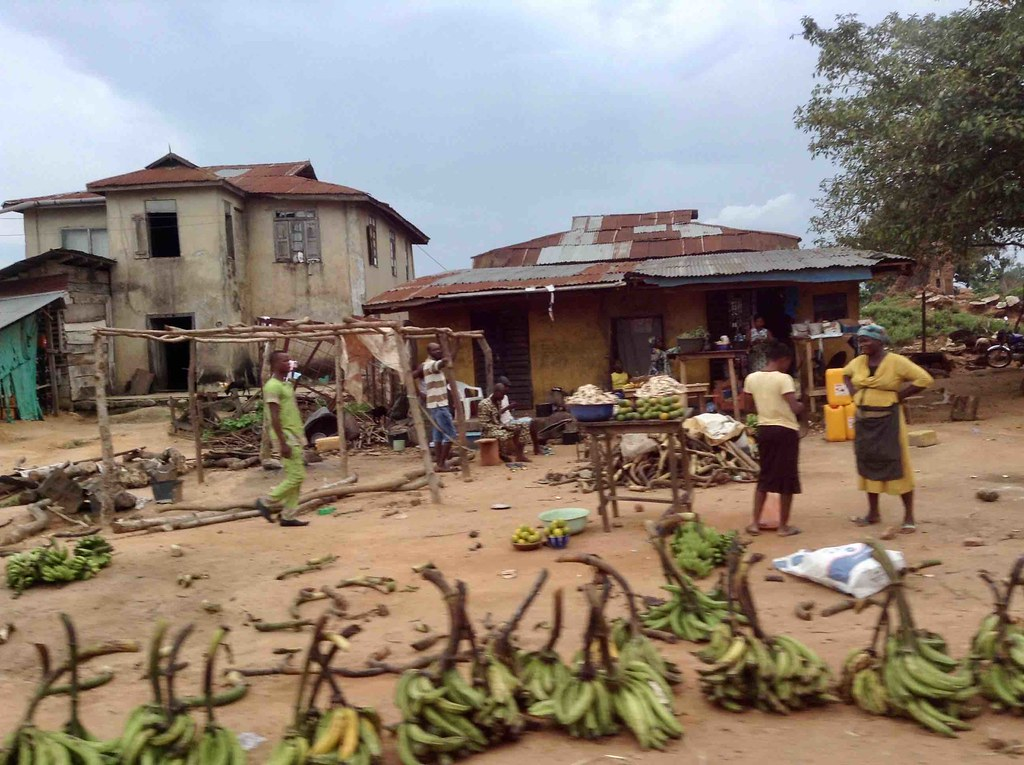 Green Plantains, Roadside Market, Owo, Ondo State, Nigeria, #JujuFilms near Asolo