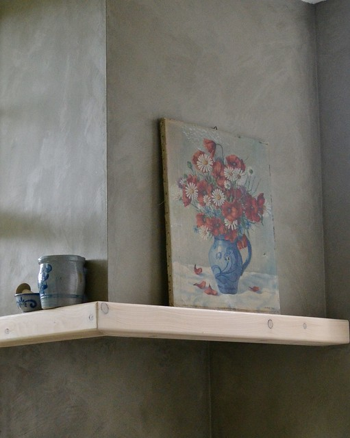 Schilderij bloemen Keulse pot
