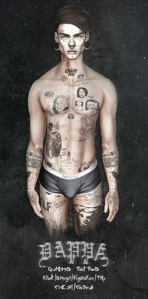 DAPPA - Gummo Tattoo - SecondLifeHub.com