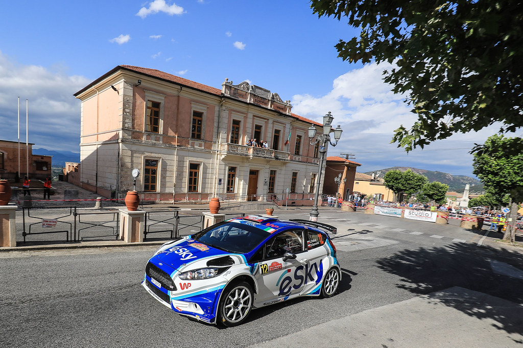 12 HABAJ Lukasz (POL) DYMURSKI Daniel (POL) Ford Fiesta R5 action during the 2017 European Rally Championship ERC Rally di Roma Capitale,  from september 15 to 17 , at Fiuggi, Italia - Photo Jorge Cunha / DPPI