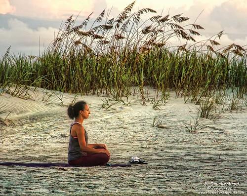 Lotus Position on the beach, Myrtle Beach South Carolina