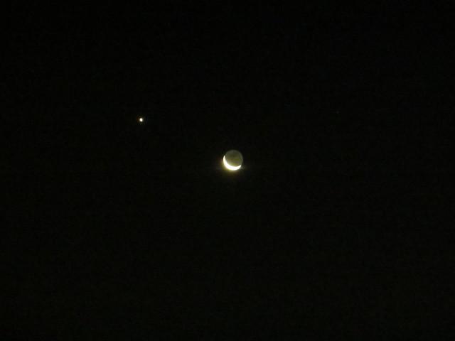 Lights, Luna and Venus ., Canon POWERSHOT SX260 HS