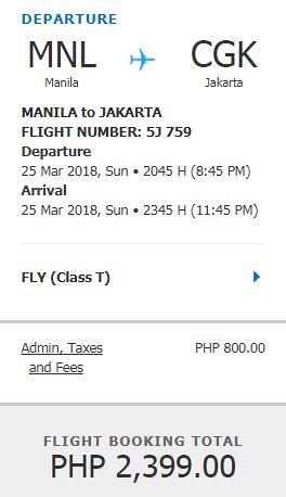 Manila to Jakarta Promo March 25, 2017