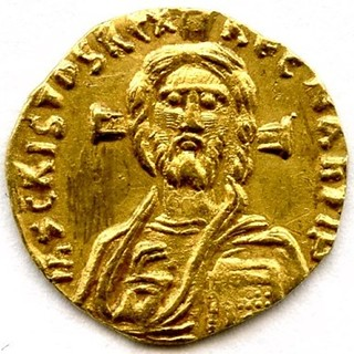 First coin to portray Christ