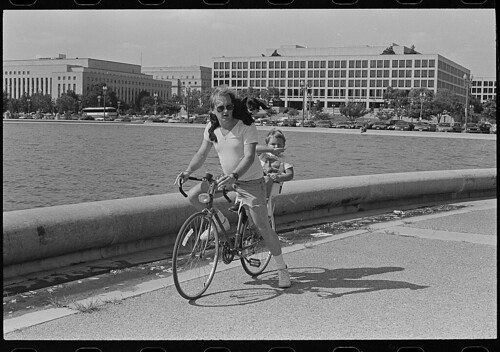Man and boy on bike in DC