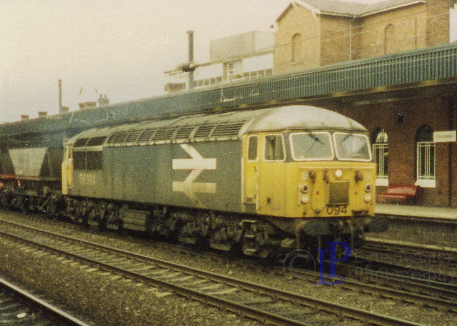 56094 powers through Doncaster on a MGR freight train