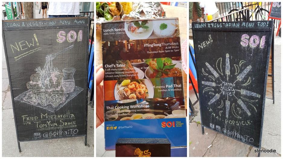 Soi Thai Street Food specials