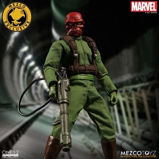 復古的早期風格!!MEZCO – ONE:12 COLLECTIVE 系列 2017秋季限定!!【紅骷髏】Marvel Red Skull 1/12 比例人偶作品 九頭蛇萬歲~~
