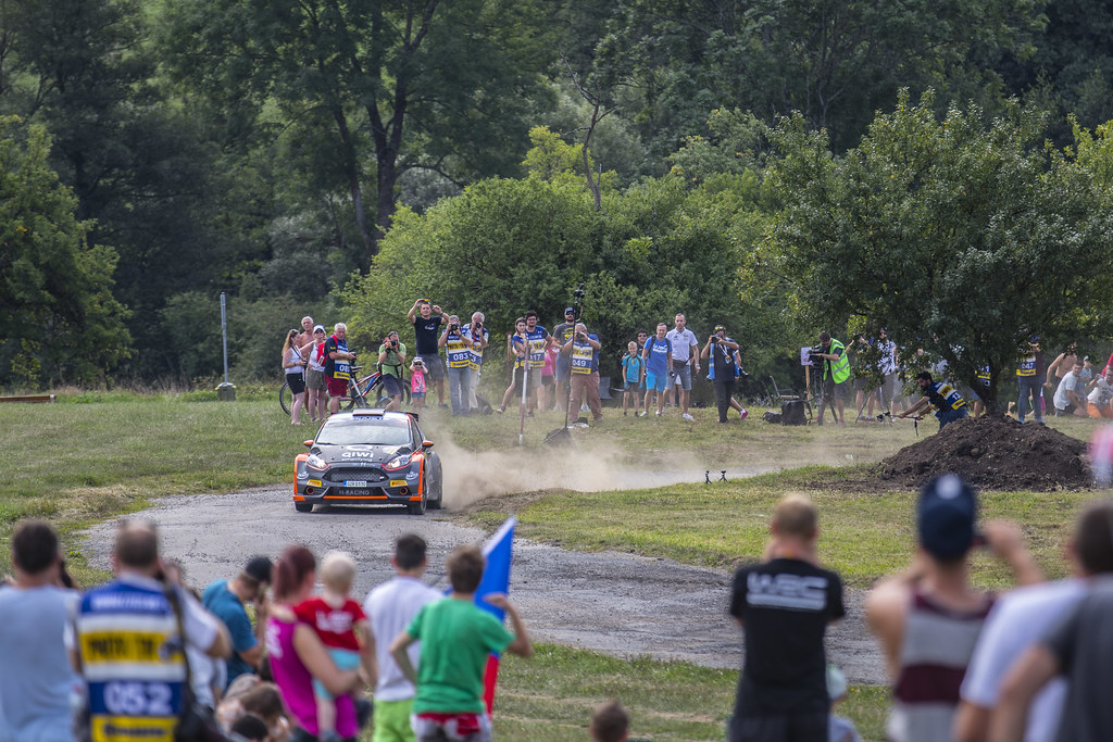 04 LUKYANUK Alexey (RUS) ARNAUTOV Alexey (RUS) Ford Fiesta R5 action during the 2017 European Rally Championship ERC Barum rally,  from August 25 to 27, at Zlin, Czech Republic - Photo Gregory Lenormand / DPPI