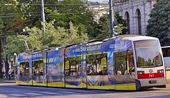 Tram with Ad Painting