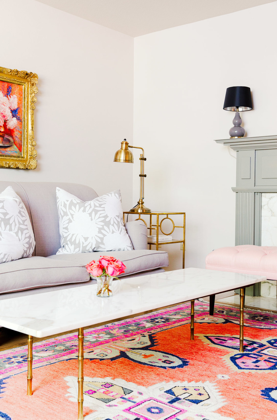 Orange Pink Living Room Rug Easy Ways to Make Your Rental Feel Like Home