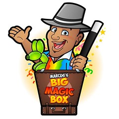 We've been very busy in the studio lately with animation projects but I always enjoy working on a new cartoon logo. Here is one I created very really for an entertainer called Marcus!