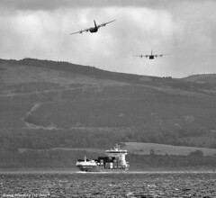 Scotland West Highlands Argyll C-130 Hercules hugging the hills 15 August 2017 by Anne MacKay
