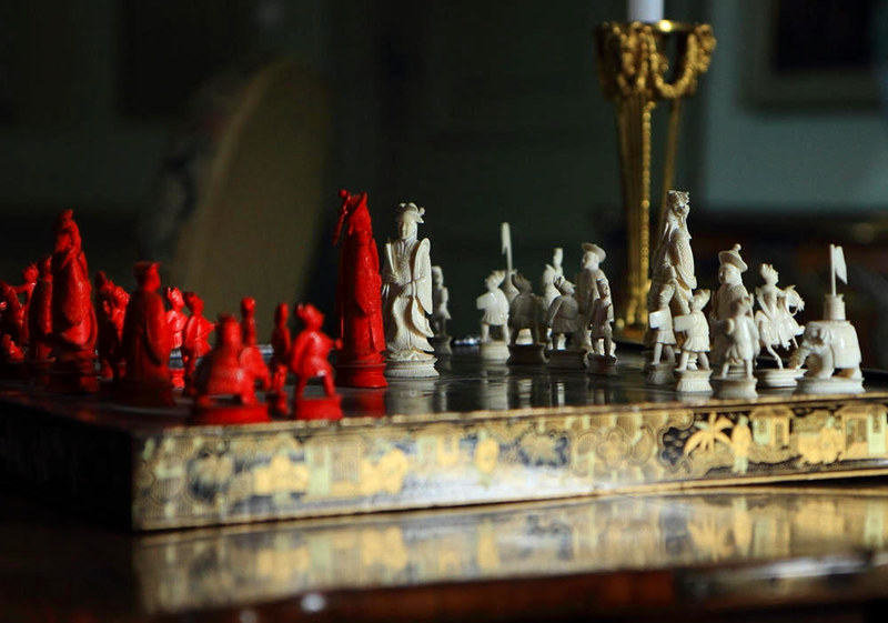 Wilhelm's Cantonese ivory chess set. Credit Peter Nederlof, flickr