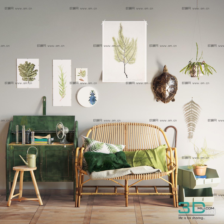 27.hammock chair model - 3D Mili - Download 3D Model - Free 3D ...