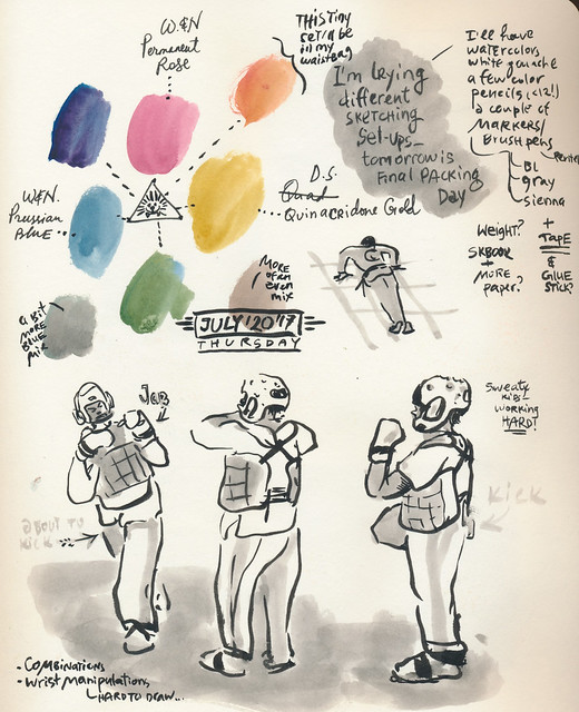 Sketchbook #107: My Life Drawing Class and getting Ready for travel sketching.