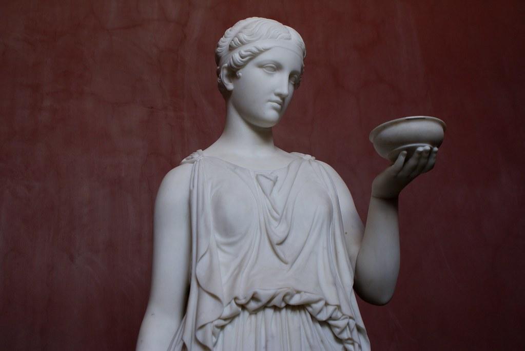 Sculpture de femme au Thorvaldsen Museum de Copenhague
