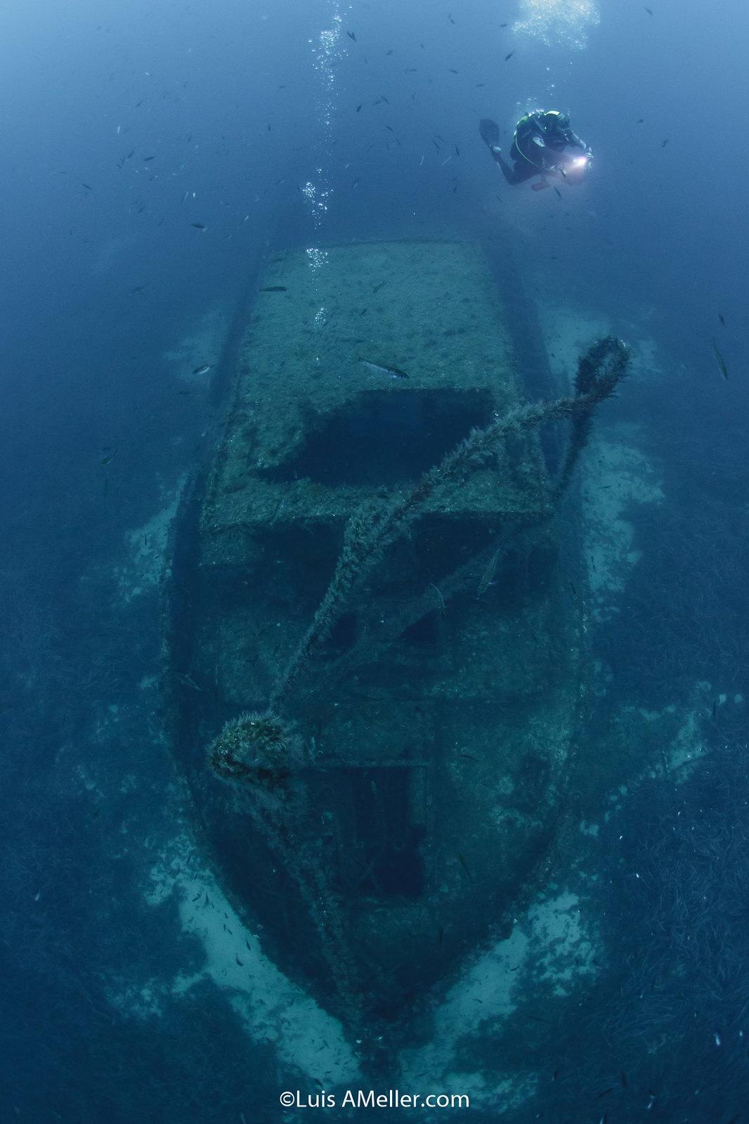 Ocean diver wreck menorca