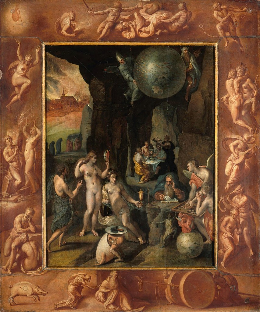 Attributed to Circle of Frans Francken the  Younger - Temptation of Saint Anthony, 1620