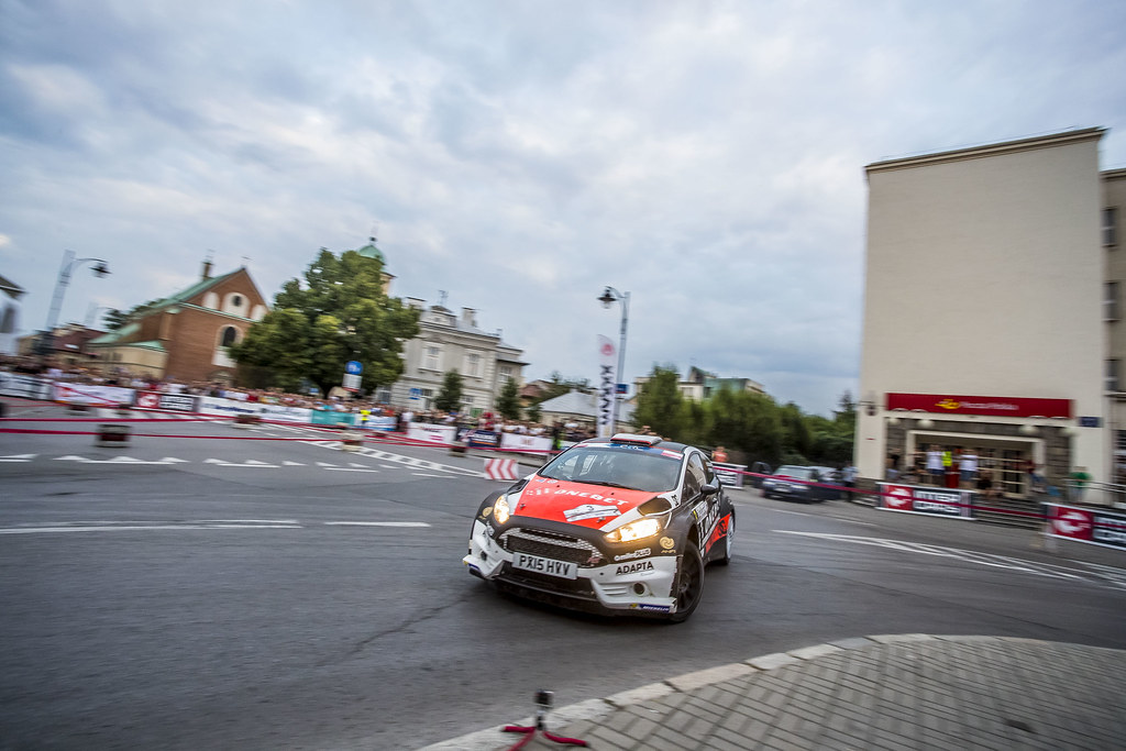 03 OSTBERG Mads (NOR) BARTH Patrik (SWE) Ford Fiesta R5 action during the 2017 European Rally Championship Rally Rzeszow in Poland from August 3 to 5 - Photo Gregory Lenormand / DPPI