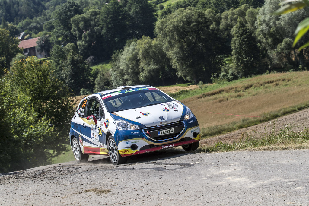 34 MARES Filip (CZE) HLOUSEK Jan (CZE) Peugeot 208 R2 action during the 2017 European Rally Championship Rally Rzeszowski in Poland from August 4 to 6 - Photo Gregory Lenormand / DPPI