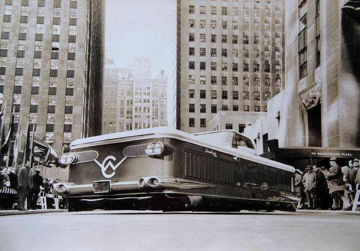 Curtiss-Wright Air Car ,demonstration at Rockefeller Center ,New-York ,9th November 1959