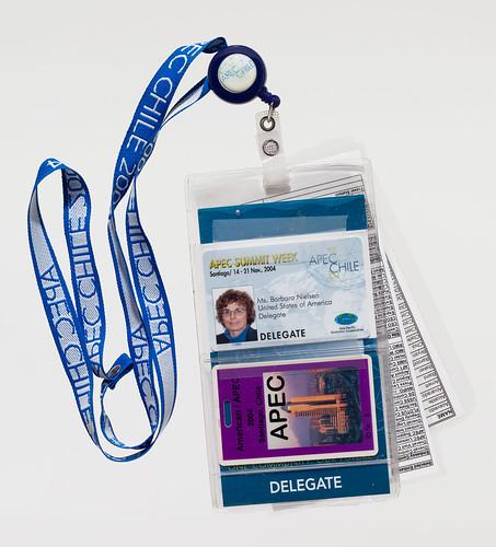 2004 APEC meeting I.D. card and lanyard