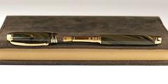 Black and Gold Ebonite fountain pen - Bock Bimetal Nib