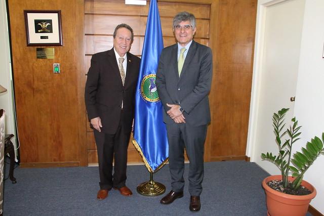 Secretario General del SICA y Embajador de España dialogan sobre estado de la cooperación en la región centroamericana