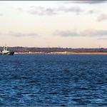 MV Hoegh Osaka, Bramble Bank, The Solent, Isle of Wight, England UK
