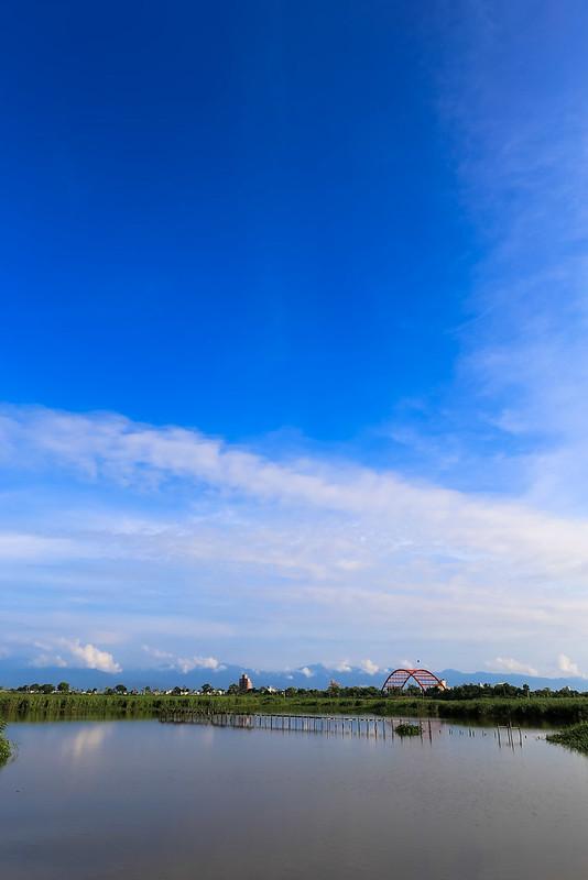 五十二甲溼地遠眺利澤簡橋