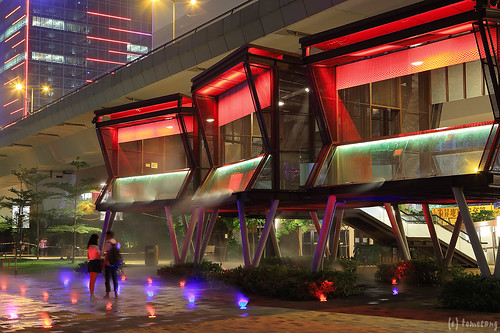 Kwun Tong promenade at Night