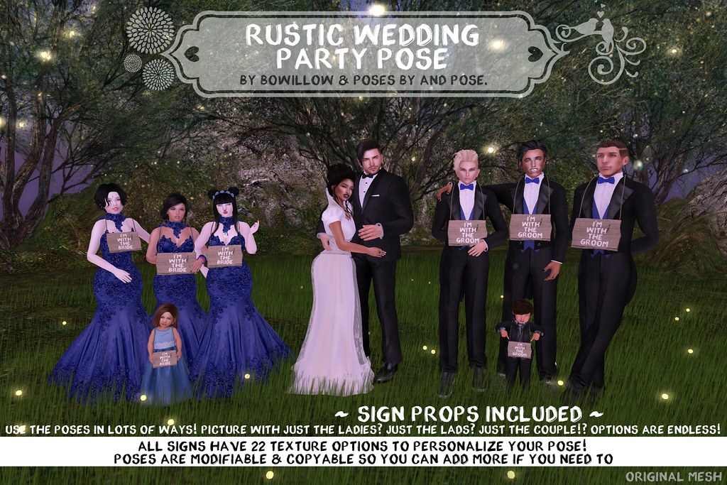 Rustic Wedding Pose Ad - SecondLifeHub.com
