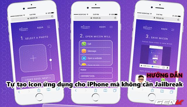 Tự tạo icon ứng dụng mang đậm chất cá nhân cho iPhone mà không cần Jailbreak