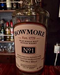 Bowmoreのバーボン樽熟成。 甘みが香り立つアイラらしからぬ味わい。バランスがいい