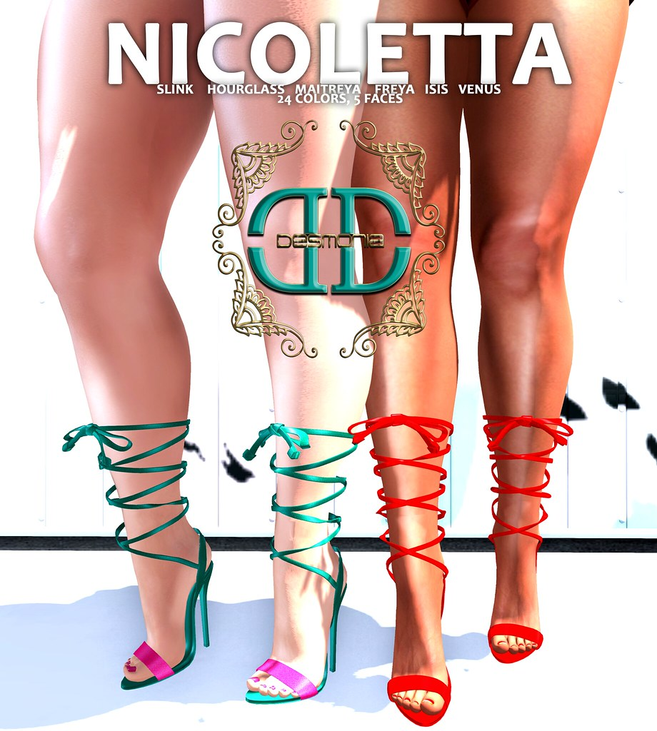 Desmonia​ Nicoletta Heels Fatpack now in mainstore and MP - TeleportHub.com Live!