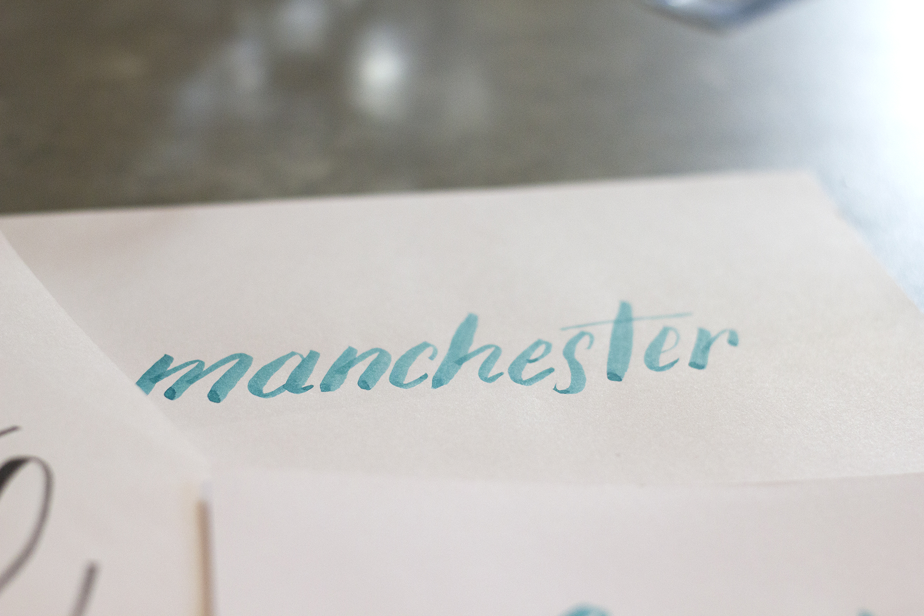 Manchester - Brush Lettering Workshop