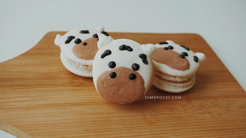 Cow Macarons