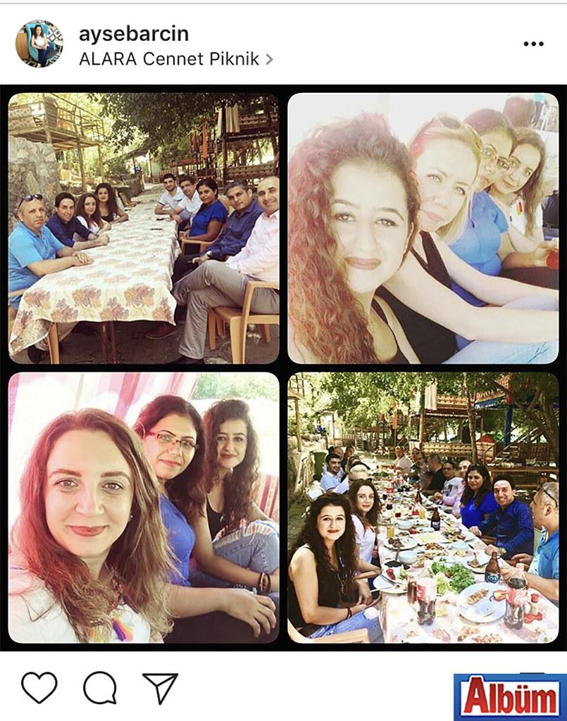 Ayşe Barcın, Club Justiniano Otel'in Alara'da düzenlediği piknikte işletme müdürü ve iş arkadaşlarıyla bu fotoğrafı paylaştı.