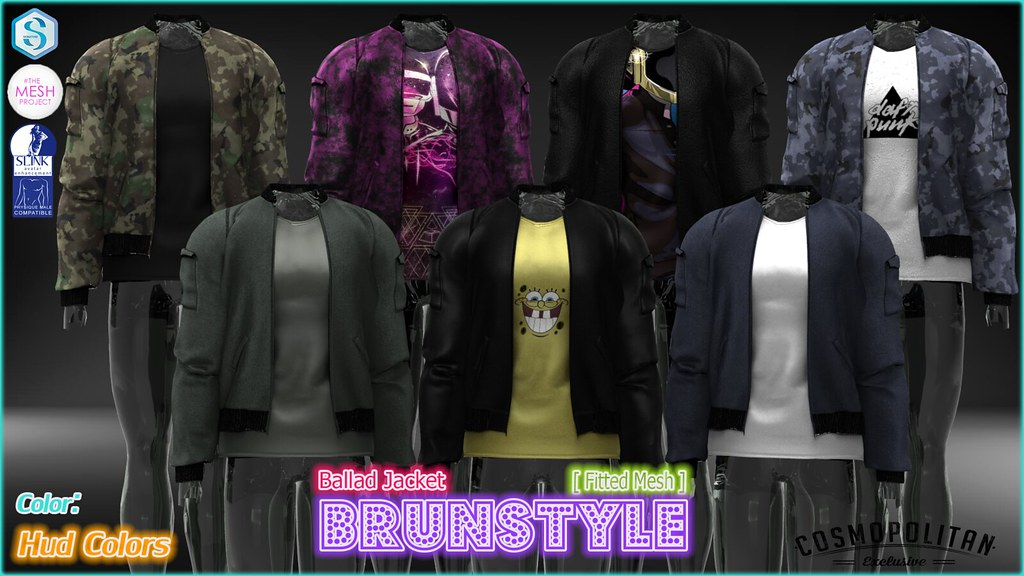 [BrunStyle] Ballad Jacket (Fitted Mesh) + HUD Textures - SecondLifeHub.com