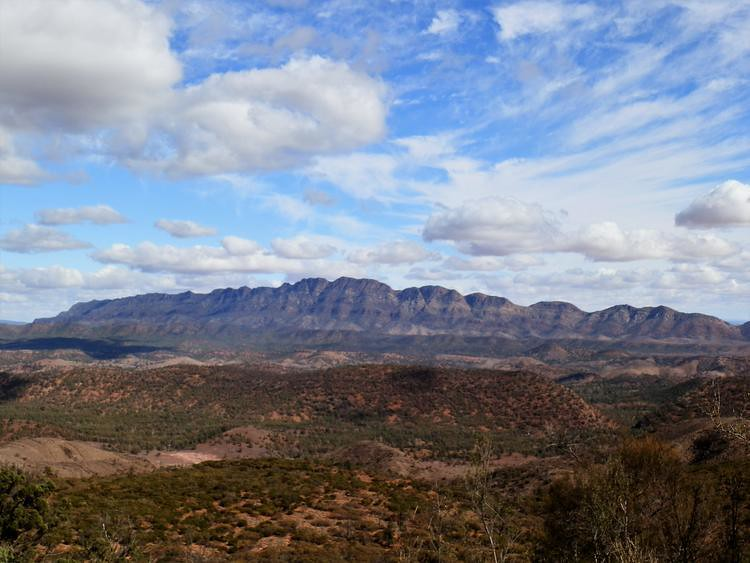 Bunbinyunna Range from Bridle Gap overlooking Moralana Scenic Drive, Flinders Ranges, South Australia